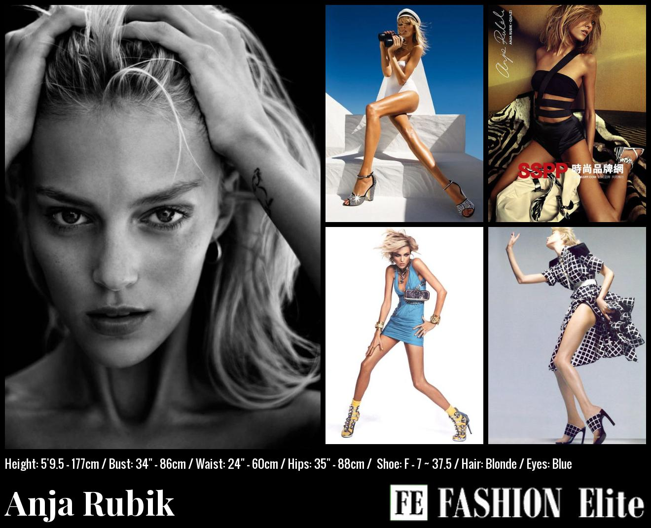 Anja Rubik Comp Card